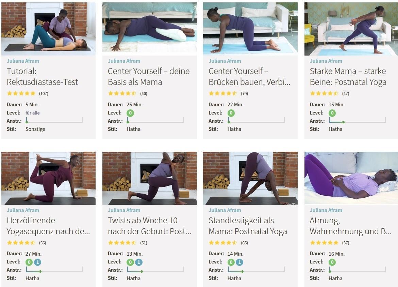 Yogaeasy Juliana Afram Auswahl